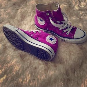 Purple All Star Converse Sneakers